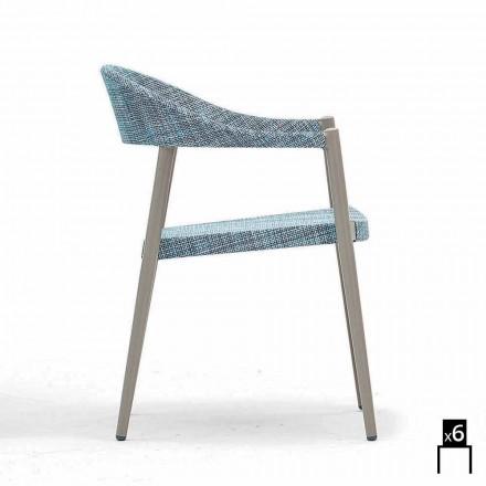 Varaschin Clever stol i moderne design have, 6 stykker