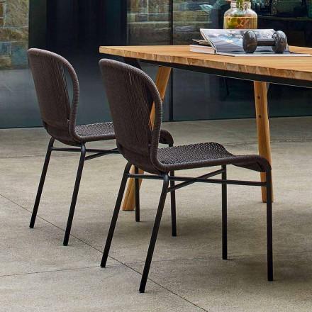 Varaschin Cricket udendørs stol moderne vævet i hånden, 2 stk