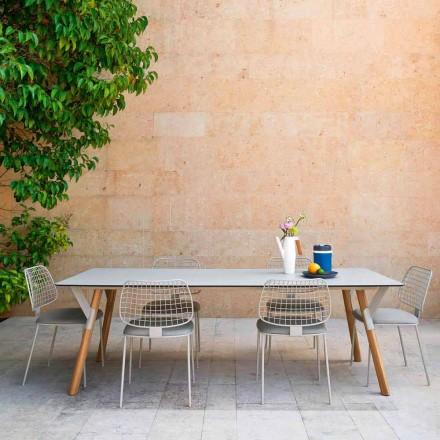 Varaschin Link bord havebord med ben af teaktræ, H65 cm