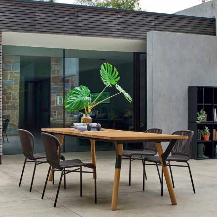 Varaschin Link teak træ haven spisebord H 75 cm