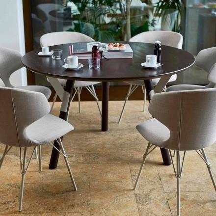 Varaschin Links Rundt bord til indendørs / udendørs moderne design, H 65 cm