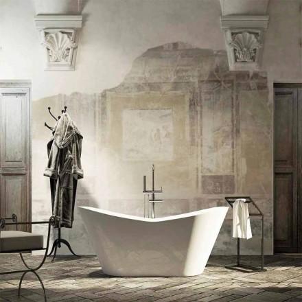Fritstående badekar i moderne design produceret 100% i Ragusa Italien