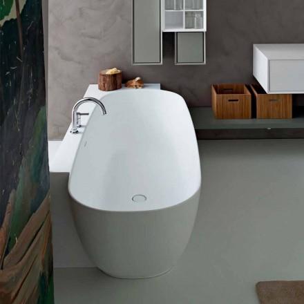 Fritstående badekar i moderne stil, hvidt design - Lipperiavas1