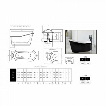 Bath design fritstående malet støbejern Gammel