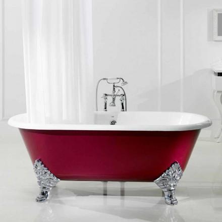 Fritstående badekar med støbejern ben Hall