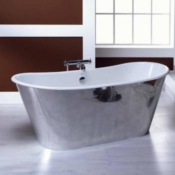 Badekar fritstående forgyldt støbt aluminium Ida