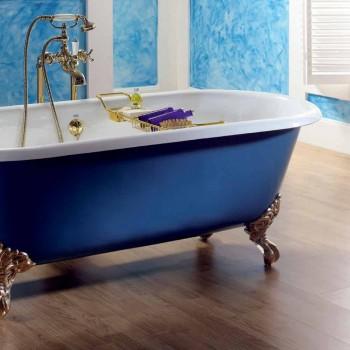 Badekar fritstående støbejern malet med Diane fødder
