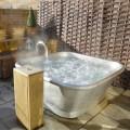 Badekar fritstående kobber belagt hvid jern Annie