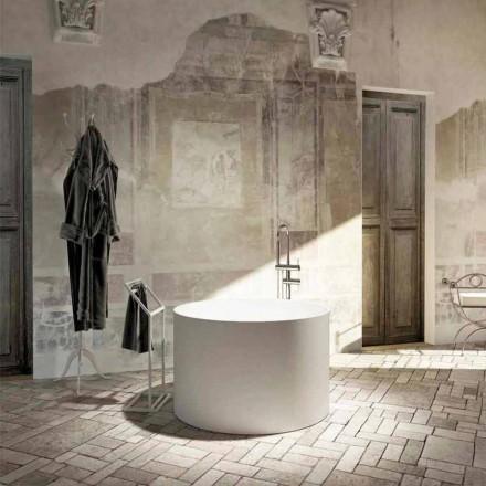 Fritstående badekar med rundt design produceret 100% i Italien, Cremona