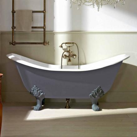 Vintage fritstående badekar med fødder i støbejern - Nadine