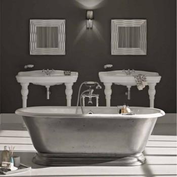 Badekar i designer badeværelse med støbejern Pierce gloss finish