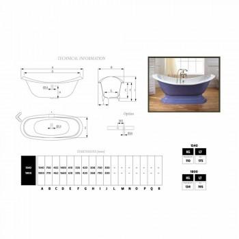 Bath glaseret og malet støbejern ben Lane