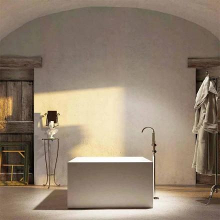 Fritstående firkantet badekar Argentera, produceret 100% i Italien