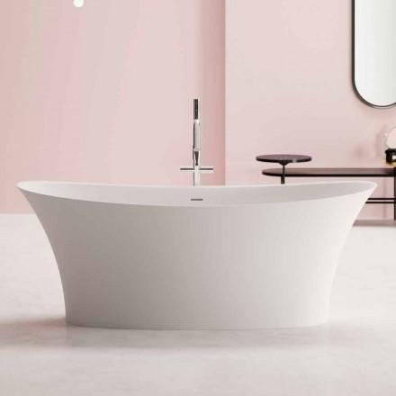 Design fritstående badekar, design i fast overflade - look