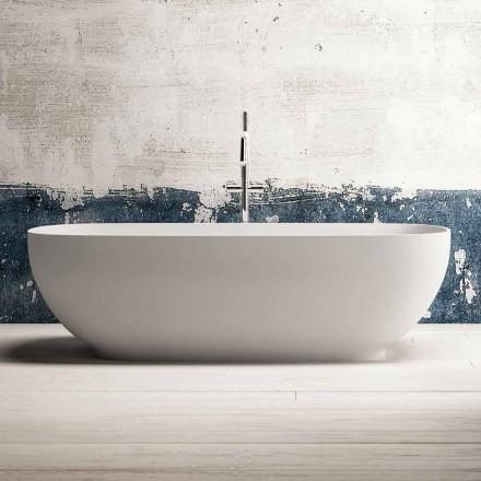 Moderne Fritstående Badekar, Design i Fast Overflade - Link