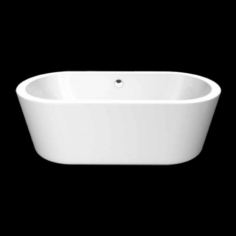 Bath hvid akryl design fritstående Nicole Lille 1675x777 mm