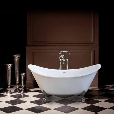 Bath hvid fritstående moderne design 173x75cm Katie