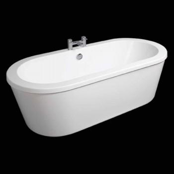 Bath moderne hvide fritstående April 1800x830 mm