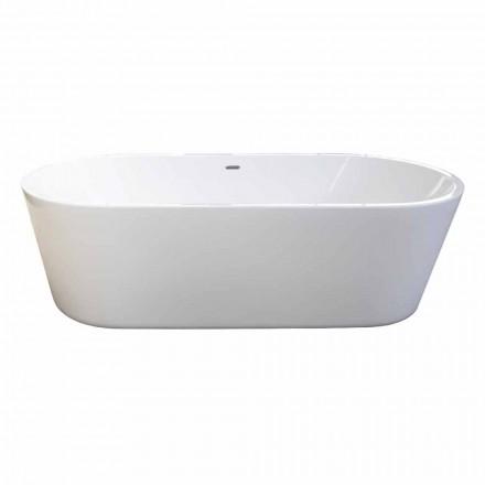 Moderne hvid fritstående badekar design af 1785x840mm Nicole 2