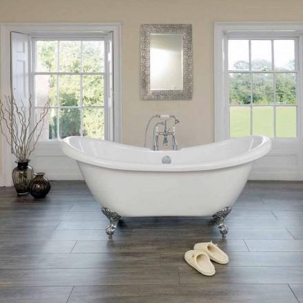 Fritstående badekar hvid moderne design Akryl Spring 1750x720mm