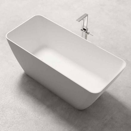 Moderne Design Fritstående Badekar Skinnende eller Matt Hvid - Ansigt