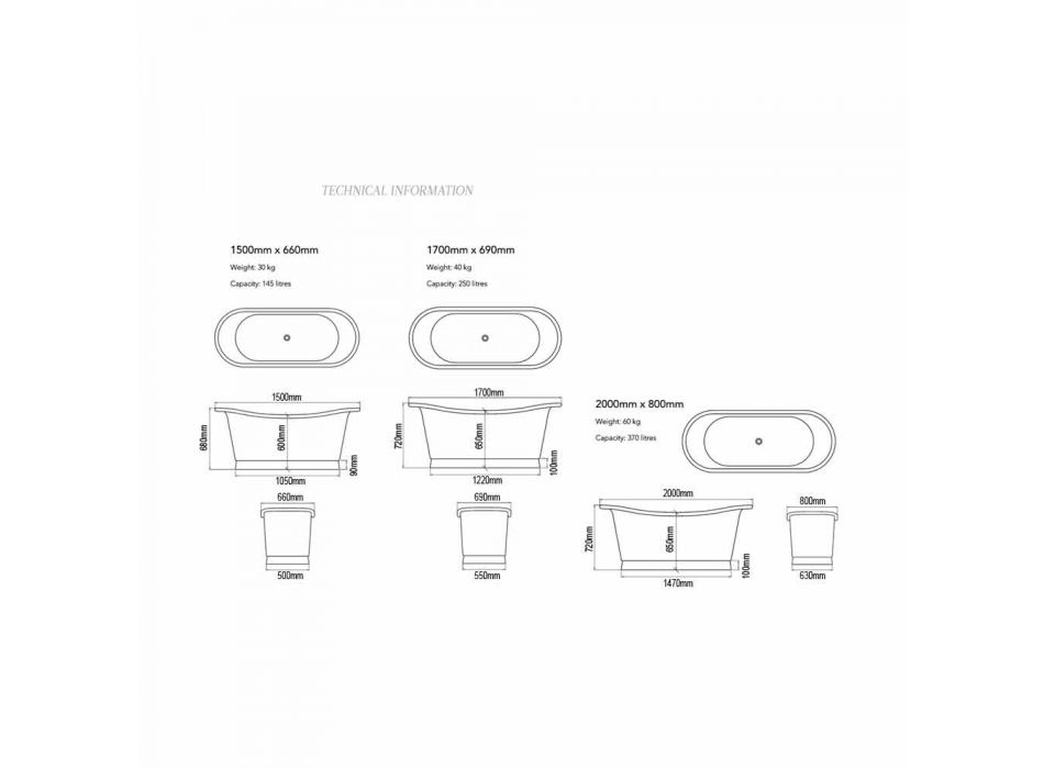 Bath design fritstående nikkel og kobber Angelica