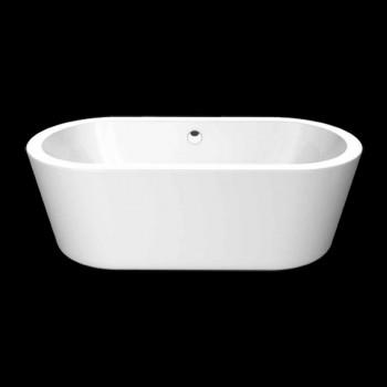 Bad design i hvid akryl fritstående Nicole 1775x805 mm