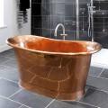 Bath design fritstående Peggy skinnende kobber