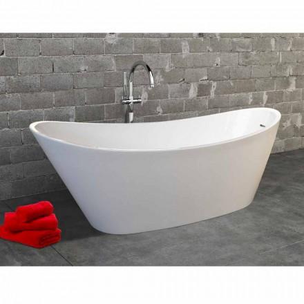 Fritstående badekar i akryl hvid moderne design Nataly, 1700x745mm