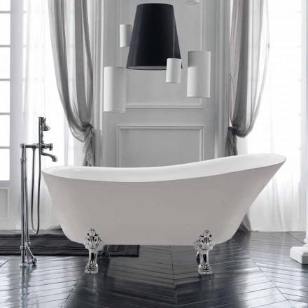 Fritstående badekar design i hvid akryl Sommer 1700x720 mm