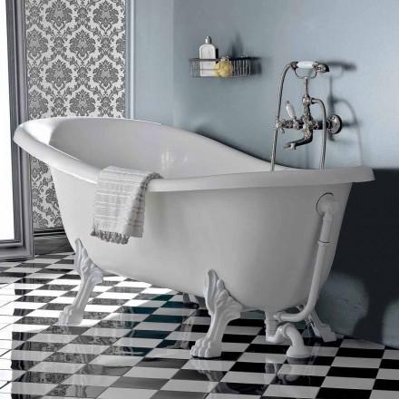 Fritstående badekar i vintage stil akryl, fremstillet i Italien - Tabea