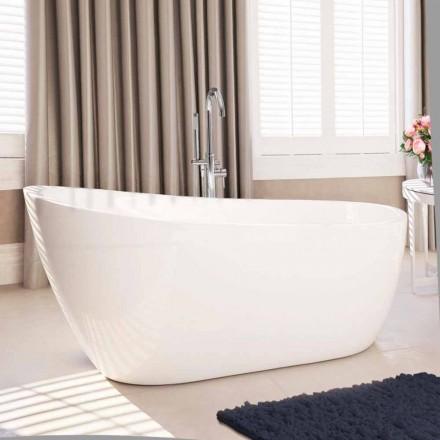 moderne fritstående badekar i hvid akryl 1730x775 mm Abbie