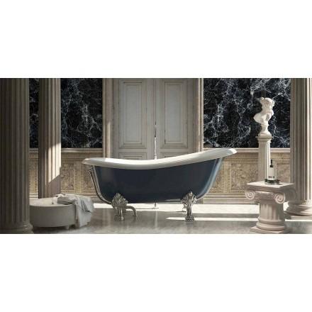 Klassisk design fritstående blåt harpiksbadekar, Fregona fremstillet i Italien