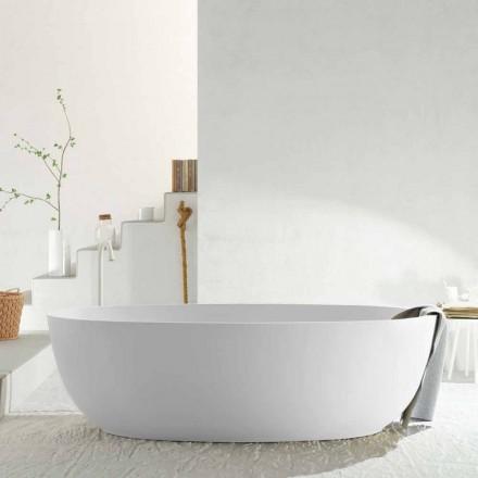 Moderne oval fritstående monoblok-badekar lavet i Italien, Frascati