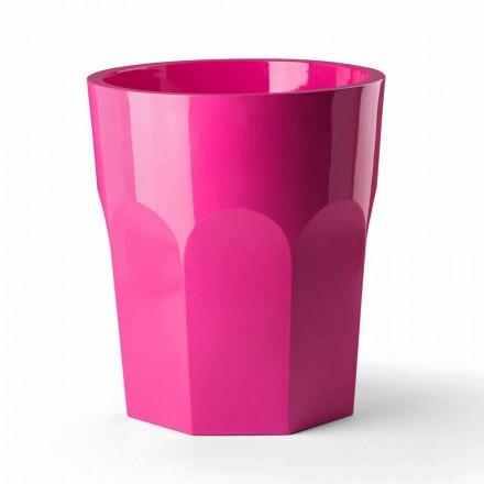 Høj dekorativ vase med glasform i polyethylen Fremstillet i Italien - Pucca