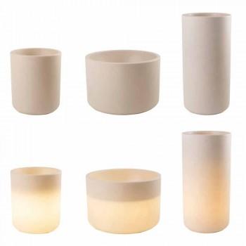 Vase med havebelysning eller stue Farvet moderne design - Cilindrostar