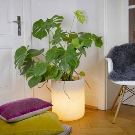 Vase med solbelysning eller LED-design til indendørs eller udendørs - Cilindrostar