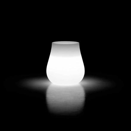 Lysende vase til udendørs design dråbe i polyethylen Fremstillet i Italien - Monita