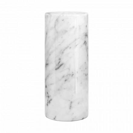 Hvid Carrara Marmor dekorativ vase lavet i Italien Design - Nevea