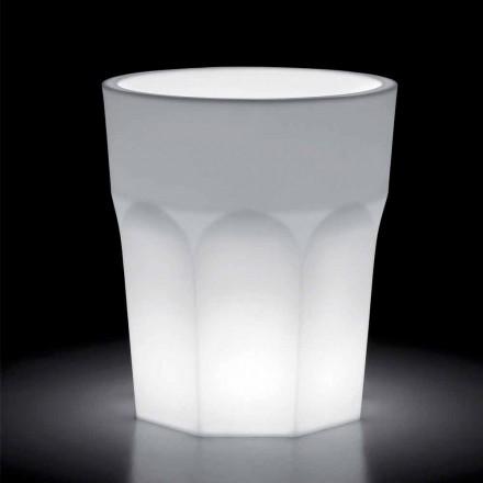 Dekorativ lysvase i polyethylen med LED-lys Fremstillet i Italien - Pucca