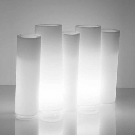 Lys dekorativ dekorativ vase udvendig / indvendig Slide Bamboo lavet i Italien