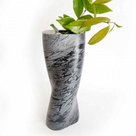 Moderne dekorativ vase i Bardiglio Fiorito marmor fremstillet i Italien - Dido