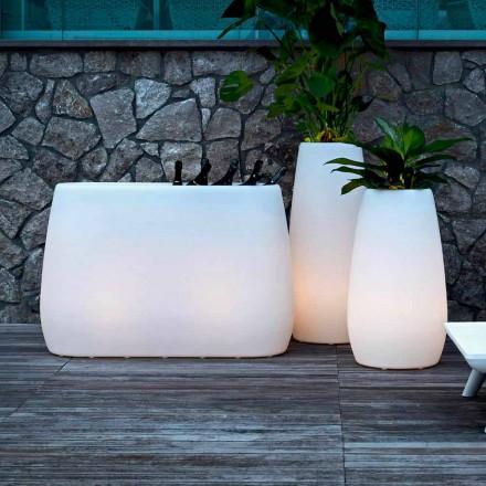 Plantervase i lysende plast, design i 3 størrelser, 2 stykker - Pandora fra Myyour