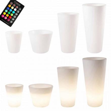 Flerfarvet eller sol-LED-oplyst gryde til haven eller stuen - Vasostar