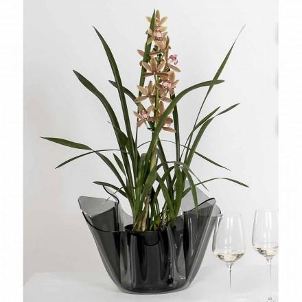 Vase intern / ekstern draperet røget Pina, moderne design