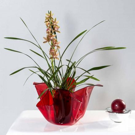 Vase intern / ekstern multi-purpose Pina rosso, moderne design lavet i Italien