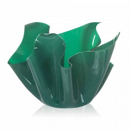 Vase indendørs / udendørs multi-purpose grøn Pina, moderne design lavet i Italien