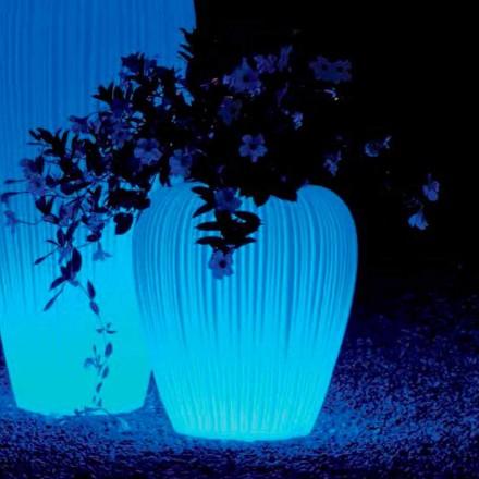 Lysende krukke med RGBW-induktionsbatteri, 2 stykker - Skin fra Myyour