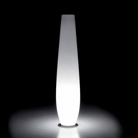 Udendørs lysvase med LED-lys i polyethylen Fremstillet i Italien - Nadai
