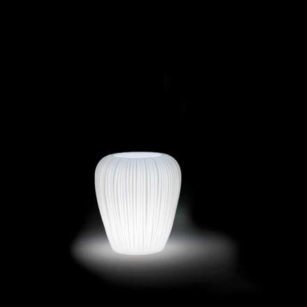 Moderne design lysende udendørs vase i polyethylen, 2 stykker - hud af Myyour